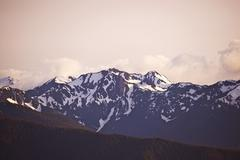olympic mountains, olympic national park, washington state, u.s.a.  olympic s - stock photo