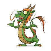 chinese dragon - stock illustration
