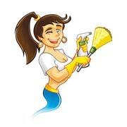 Genie cleaner female Stock Illustration