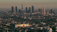 Los Angeles Skyline on a hazy afternoon Stock Footage