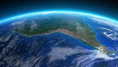 Earth seen from space. South America. - stock footage