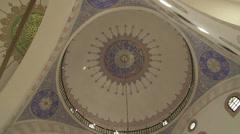 Decorations inside of Gazi Husrev Beg mosque Stock Footage