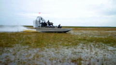 Airboat Spinout Stock Footage