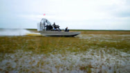 Stock Video Footage of Airboat Spinout