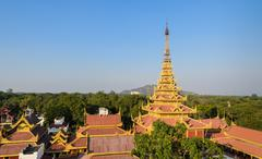 mandalay royal palace, myanmar - stock photo