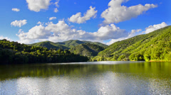 Time lapse clip. mountain lake in national park europe. hd video (high defini Stock Footage