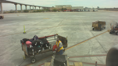 Loading baggage in 737 timelapse Stock Footage