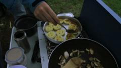 CampingBackgrounds-SmileyFacesandMushrooms Stock Footage