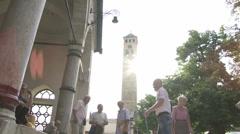 Gazi Husrev Bay mosque, Sarajevo Stock Footage
