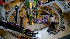 The modern shopping mall with customers in Bangkok, Thailand Stock Footage
