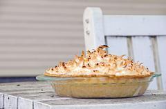 Coconut Cream Pie Stock Photos