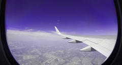 Plan wing from window Stock Footage