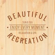 Beautiful recreation. - stock illustration