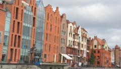 Gdansk, Poland. View on the city from the Motlawa river. 13 Stock Footage