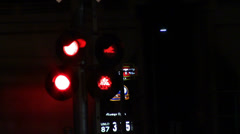 1692 Flashing Stop Lights as Train Pass Stock Footage