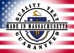 Quality test guaranteed stamp Stock Illustration