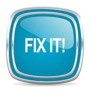 Stock Illustration of fix it blue glossy icon