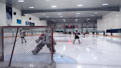 Ice Hockey - Male Team - 01 - Rink Training - stock footage