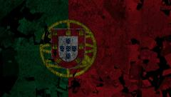 Stock Video Footage of National Transitions  - Portuguese Flag-Black