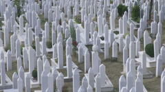 Islamic cemetary Stock Footage