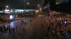 PROTESTERS BLOCK ROADS EMPTY DANGER FORBIDDEN Stock Footage