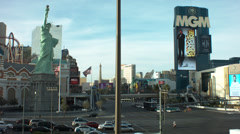 Timelapse of the mgm and nyny in las vegas nv Stock Footage