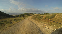 Driving off road in the north of Israel Stock Footage