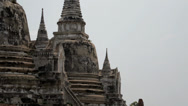 Stock Video Footage of Wat Phra Si Sanphet in Ayutthaya - short quick zoom shot