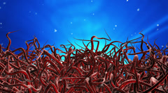 Red tentacles Stock Footage