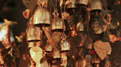 Buddhist Temple Inscriptions Wind Bells Stock Footage