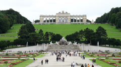 People walking at Schonbrunn Stock Footage
