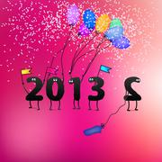 Funny 2013 New Year's Eve greeting card. + EPS8 - stock illustration
