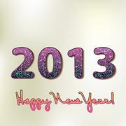 Happy new year 2013, colorful design. + EPS8 Stock Illustration