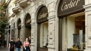 Stock Video Footage of Luxury store with people - Cartier