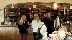 California wine tasting in the Jacuzzi vineyard bar. Stock Footage