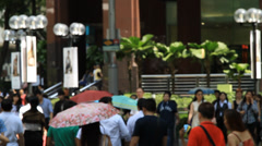 Blurred image at Orchard road in Singapore Stock Footage