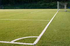 football field, teken from corner - stock photo