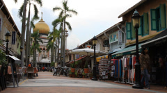 Arab street in Singapore Stock Footage