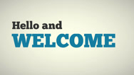 Stock Video Footage of Hello And Welcome Animated Video
