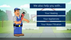 Stock Video Footage of Plumber Animated Animation Video