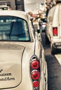 brooklyn, ny - june 14, 2013: checker taxi cab produced by the checker motors - stock photo