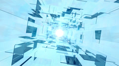 Glass tunnel in rotation Stock Footage