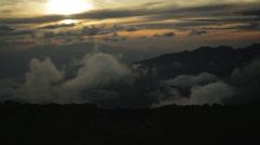 Kilimanjaro Mountain Sunset Stock Footage