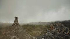 Kilimanjaro Cairn Timelapse Stock Footage