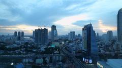 Bangkok city in Thailand Stock Footage