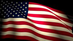 USA US American Flag Closeup Waving Backlit Seamless Loop CG - stock footage