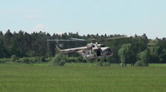 Landing Mil Mi-24, Russia 4 Stock Footage