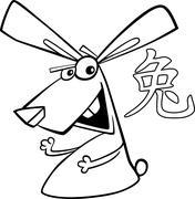 Stock Illustration of Rabbit Chinese horoscope sign