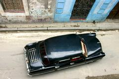 Old car in la havana Stock Photos