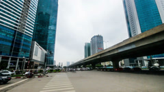 The skyscapers in the new district of Hanoi, Vietnam - stock footage
